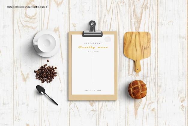 Maquette de menu de restaurant