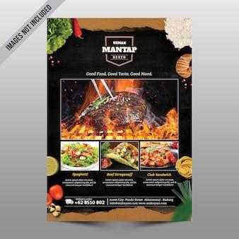 Maquette de menu de restauration du restaurant