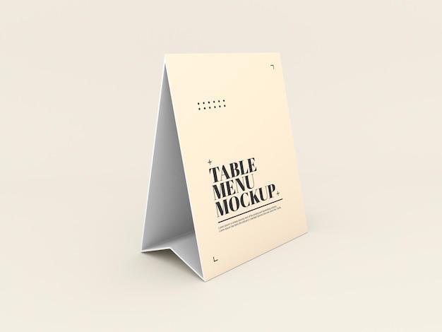 Maquette De Menu De Tente De Table En Papier PSD Premium