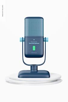 Maquette de microphone de bureau rectangulaire, vue de face