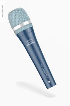 Maquette de microphone à main sans fil, flottant