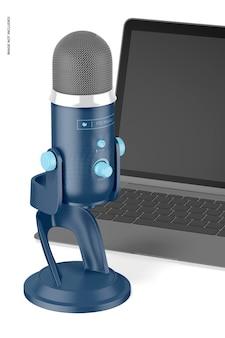 Maquette de microphone en streaming
