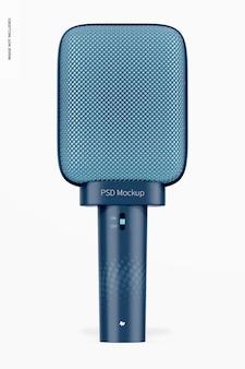 Maquette de microphone supercardioïde dynamique, vue de face