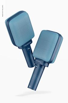 Maquette de microphones supercardioïdes dynamiques, flottants