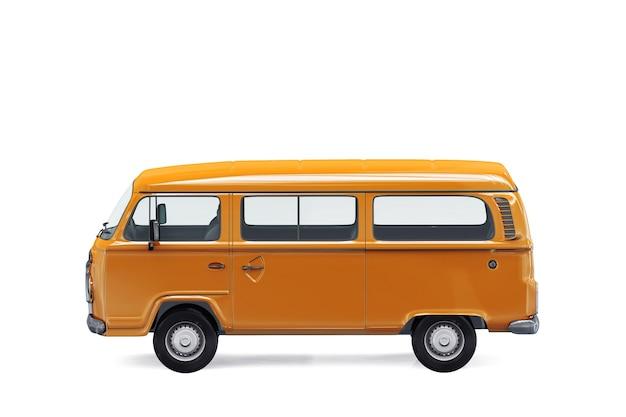 Maquette de minifourgonnette orange