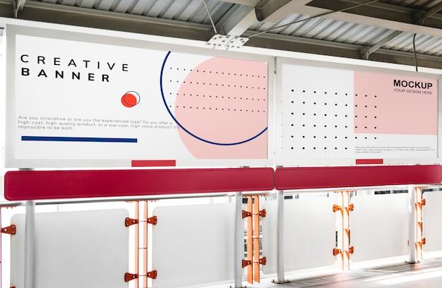 Maquette minimale de panneau d'affichage horizontal à grande échelle