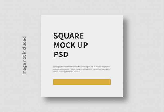Maquette minimale plate de taille carrée réaliste isolée