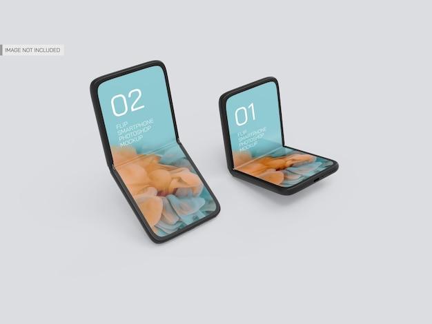 Maquette De Mobiles Flip PSD Premium