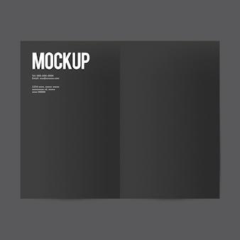 Maquette de modèle de brochure papier vierge