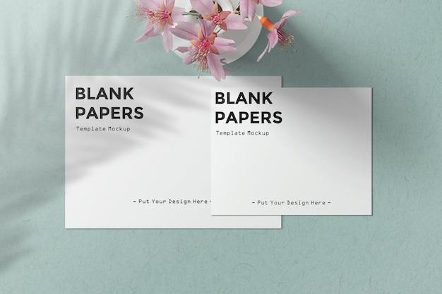 Maquette de modèle de livres blancs vierges