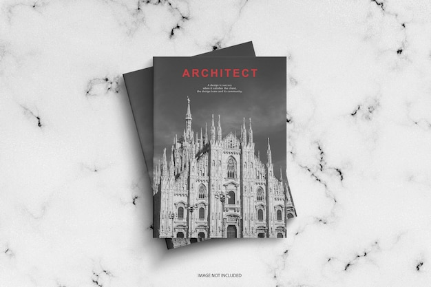 Maquette de modèle de magazine d'architecte