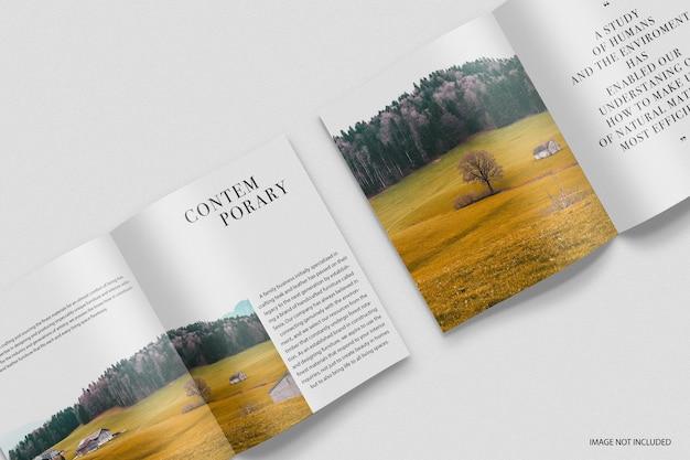 Maquette de modèle de magazine contemporain minimal