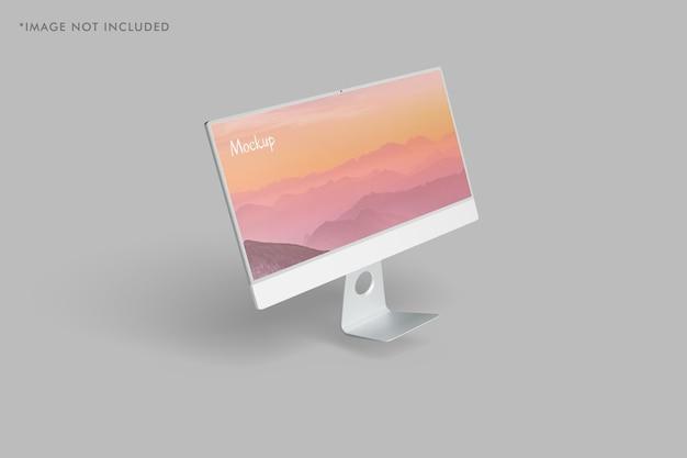 Maquette de moniteur pc minimaliste
