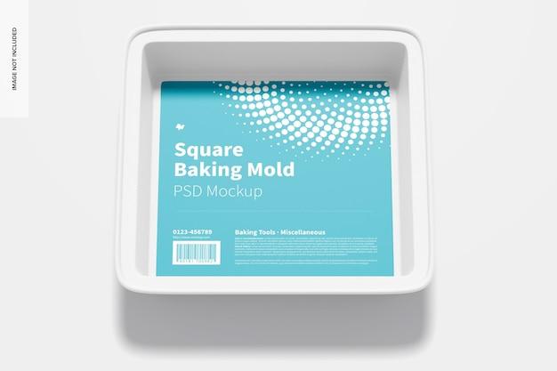 Maquette de moule de cuisson carré, vue de dessus