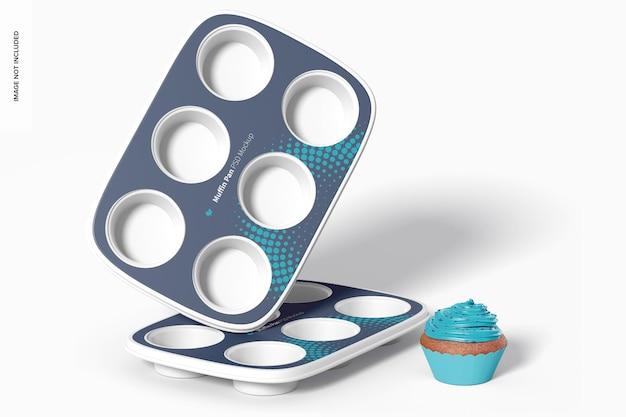 Maquette de moules à muffins