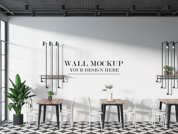 Maquette de mur de bistro ou de café