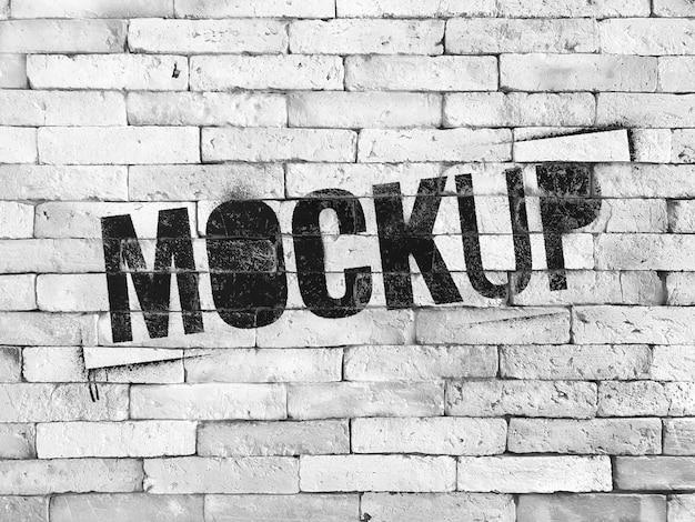 Maquette de mur de brique grunge blanc réaliste