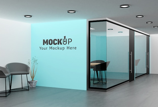 Maquette de mur de bureau intérieur