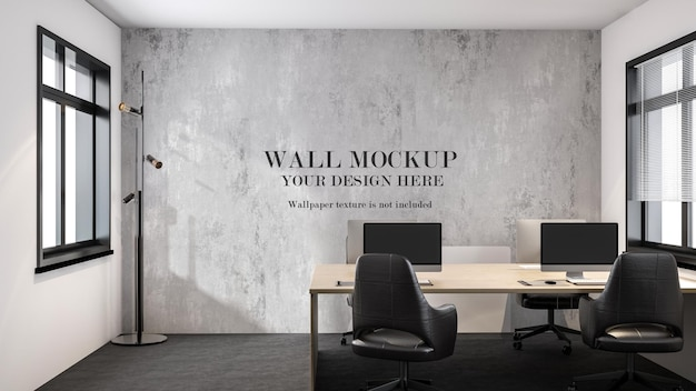 Maquette de mur de bureau moderne