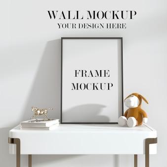 Maquette de mur et de cadre de pièce lumineuse