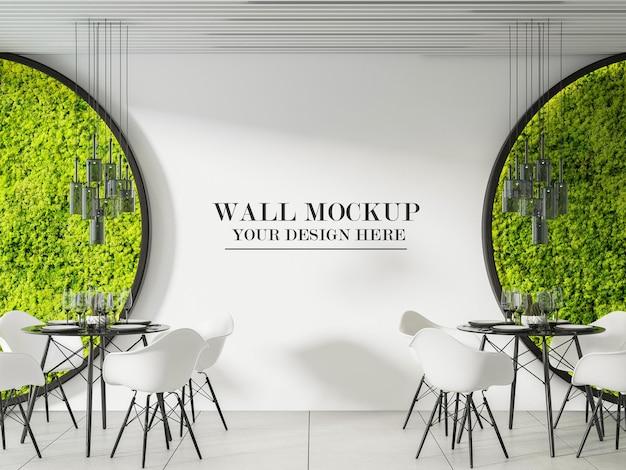 Maquette de mur de café au design moderne et élégant