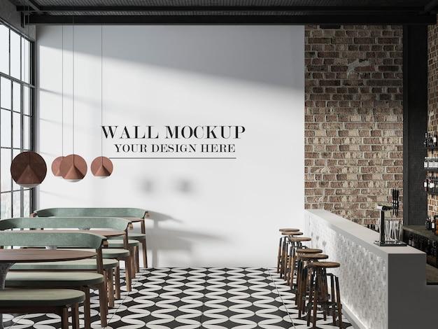 Maquette de mur de café design loft