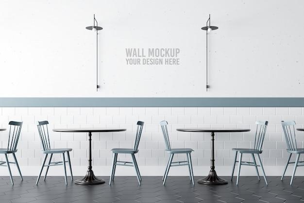 Maquette de mur de café intérieur