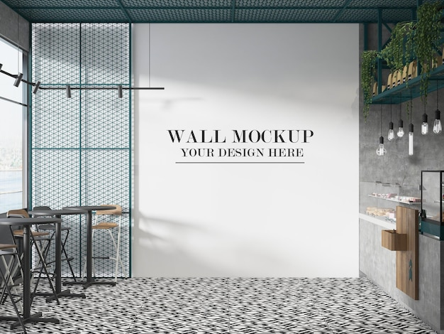 Maquette de mur de café de snack-bar