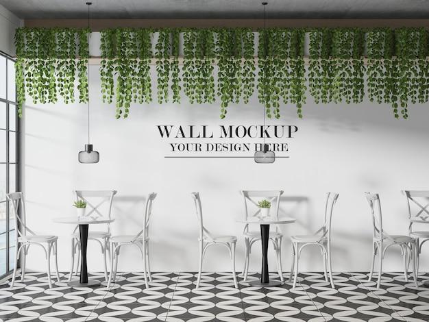 Maquette de mur de cafétéria française