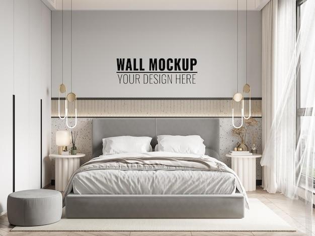 Maquette de mur de chambre à coucher intérieure