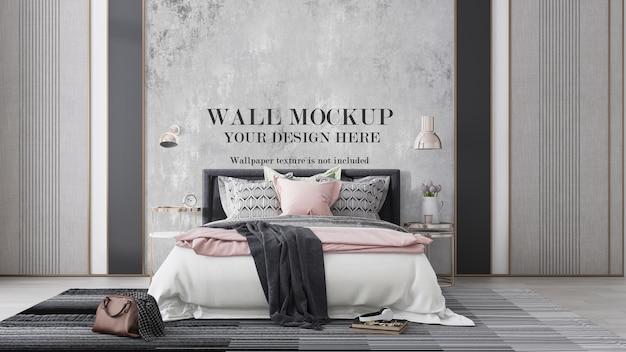 Maquette de mur de chambre à coucher moderne et élégante