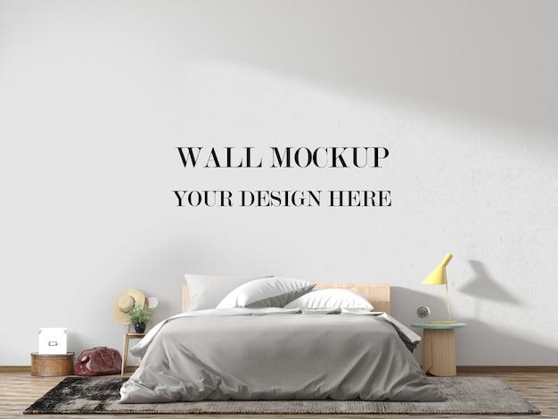 Maquette de mur de chambre décorée de meubles