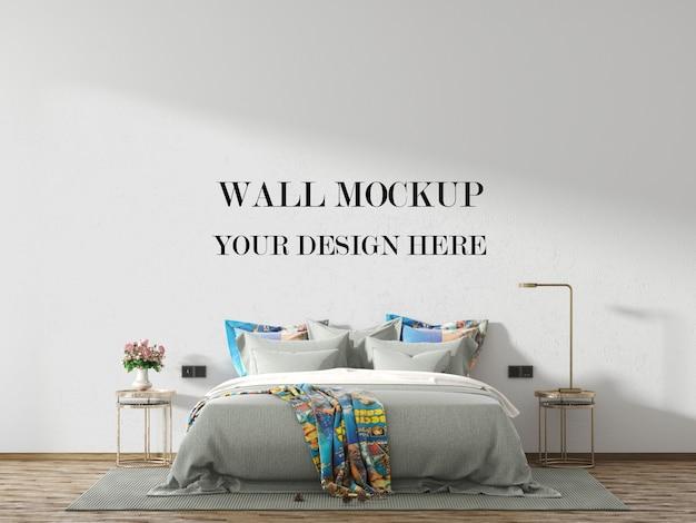 Maquette de mur de chambre loft avec meubles