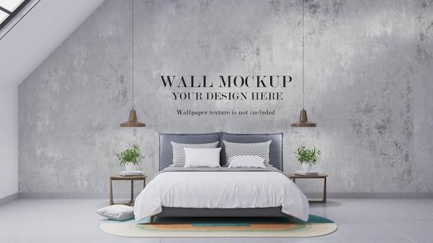 Maquette de mur de chambre mansardée