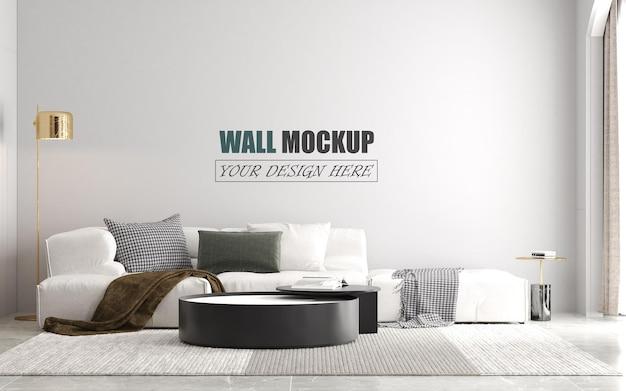 Maquette de mur de conception de salon moderne