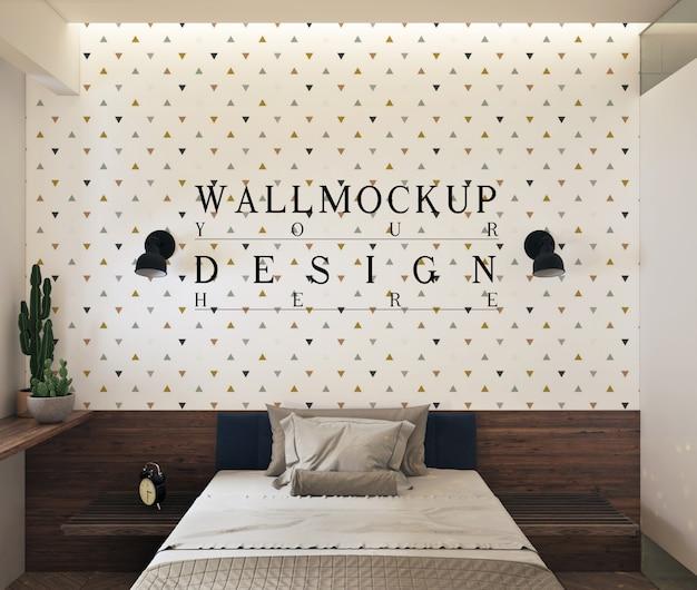 Maquette de mur dans une chambre contemporaine moderne