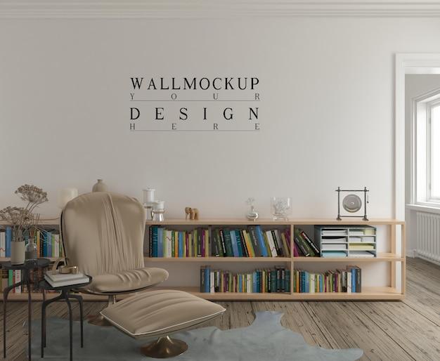 Maquette de mur dans un salon contemporain moderne