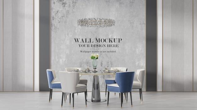 Maquette de mur intérieur art déco moderne
