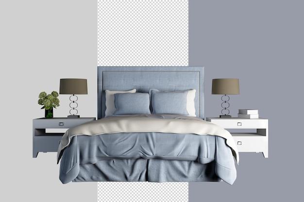 Maquette de mur intérieur de chambre à coucher moderne