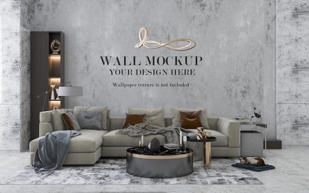 Maquette de mur intérieur contemporain