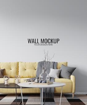Maquette de mur intérieur moderne