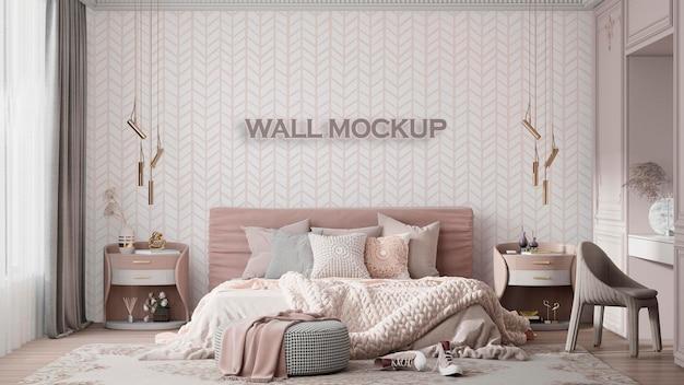 Maquette de mur intérieur pour chambre d'enfant premium psd