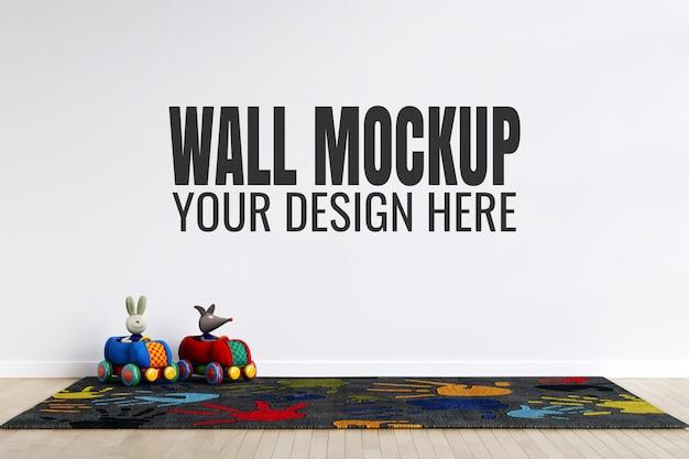 Maquette de mur intérieur de salle de jeux pour enfants avec décorations de jouets