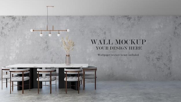 Maquette de mur intérieur de visualisation 3d