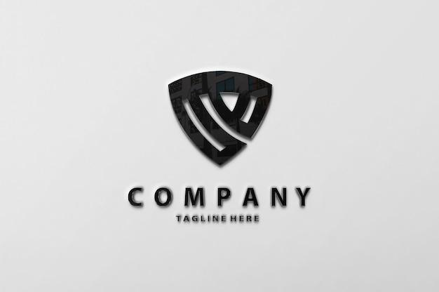 Maquette de mur de logo de luxe