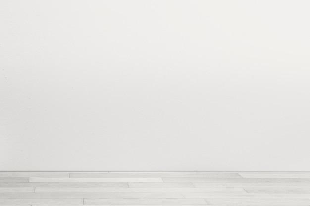 Maquette de mur de pièce minimale psd avec sol blanc