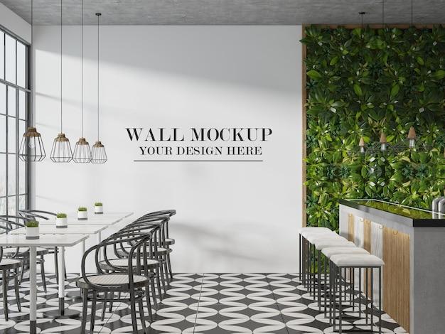 Maquette de mur de restaurant ou de café pour vos textures
