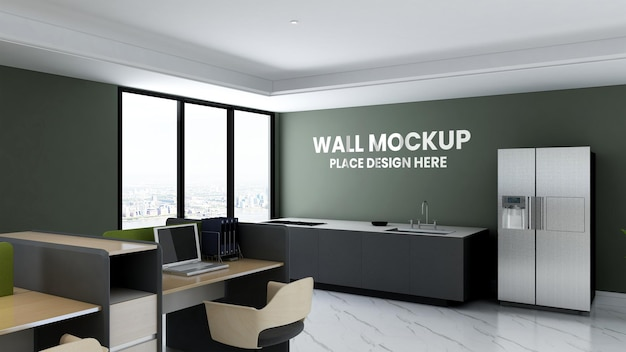 Maquette de mur de salle de garde-manger de bureau