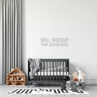 Maquette de mur de salle de jeux pour enfants