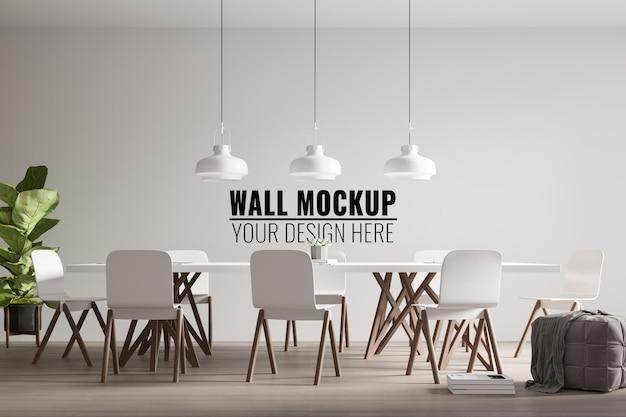 Maquette de mur de salle de réunion de bureau moderne intérieur